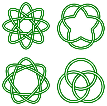 knot: vector illustration of celtic knots