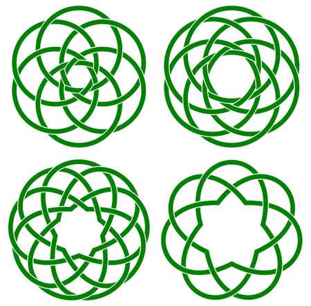 vector illustration of celtic knots