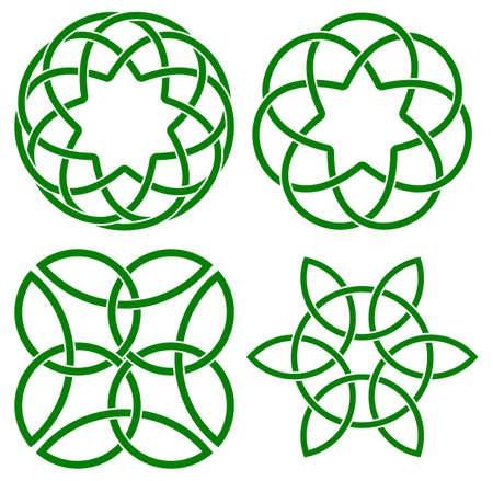 knotwork: vector illustration of celtic knots