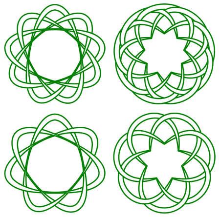 gefesselt: Vektor-Illustration der keltischen Knoten