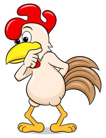 baffled: illustration of a perplexed cartoon chicken