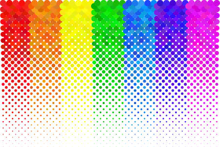 illustration of a dotted halftone background
