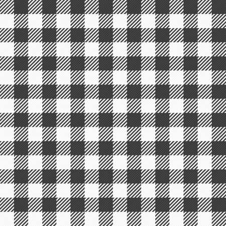 tablecloth: illustration of a black and white plaid tablecloth
