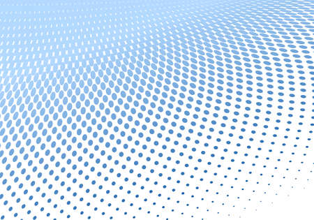 curve creative: illustration of a dotted halftone background