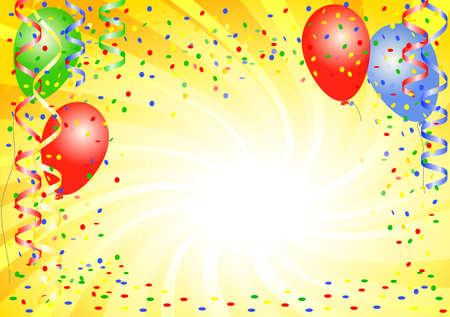 Ilustración vectorial de un fondo de fiesta con globos Foto de archivo - 53434437