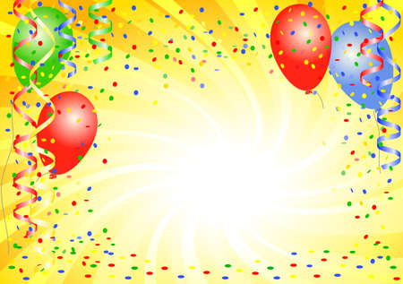 ilustración vectorial de un fondo de fiesta con globos