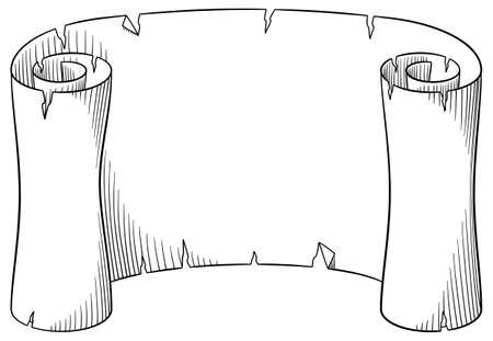 old letter: vector illustration of an old parchment scroll