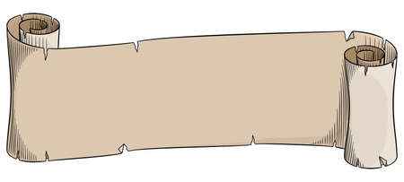 ilustración vectorial de un viejo rollo de pergamino