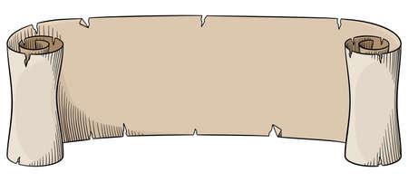 Vektor-Illustration eines alten Pergamentrolle