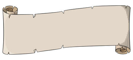 ancient scroll: vector illustration of an old parchment scroll