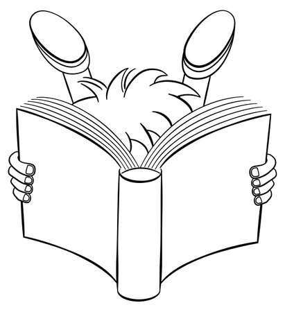 illustration of a entranced read child
