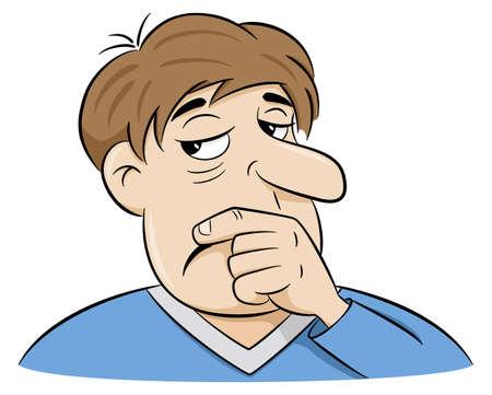 illustrazione vettoriale di un uomo pensieroso