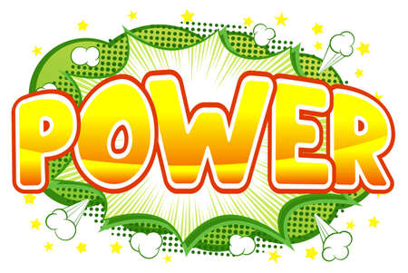 blowup: vector illustration of a comic sound effect power