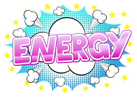 blowup: vector illustration of a comic sound effect energy