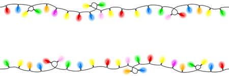 ilustración vectorial de cadenas homogéneas de las luces Ilustración de vector