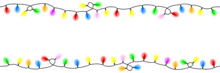 vector illustration of seamless chains of lights Vetores