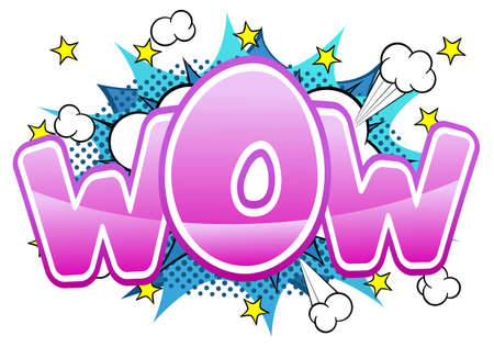 blowup: vector illustration of a comic sound effect wow