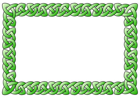 vector illustration of a rectangular celtic ornamental frame Vektorové ilustrace