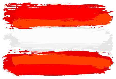 Illustration vectorielle d'un drapeau de l'Autriche peint avec des coups de pinceau Banque d'images - 77841852
