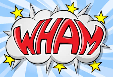 Illustration of a comic sound effect wham