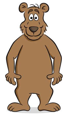 Vector illustration of a standing cartoon bear. Ilustrace