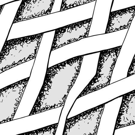 Vector illustration of a abstract hand drawn seamless pattern. Illusztráció