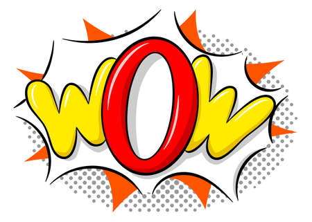 vector illustration of a comic sound effect wow
