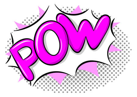 vector illustration of a comic sound effect pow
