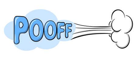 illustration vectorielle d'un effet sonore comique pooff Vecteurs