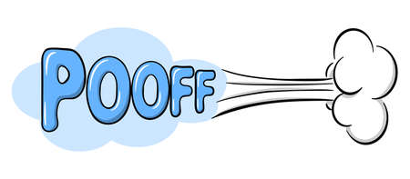 vector illustration of a comic sound effect pooff
