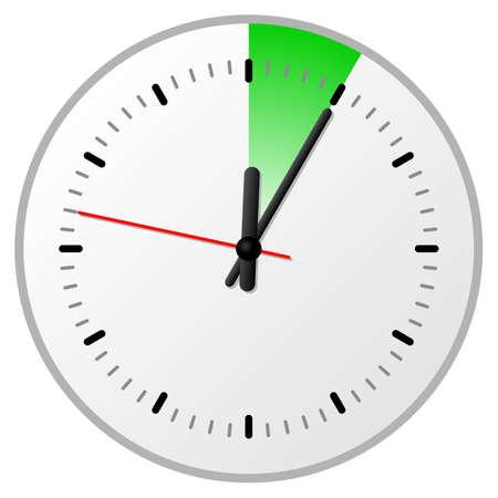 Ilustración vectorial de un temporizador con 5 (cinco) minutos. Ilustración de vector