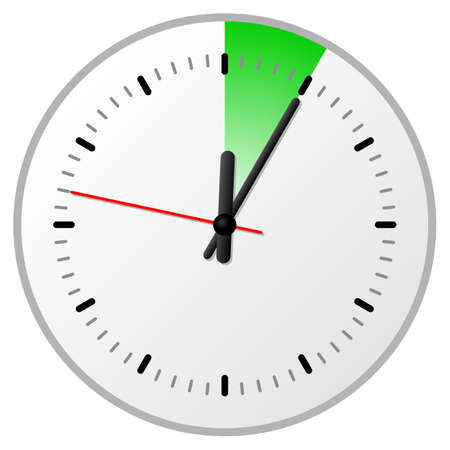 vector illustration of a timer with 5 (five) minutes
