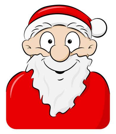 Vektor-Illustration eines Porträts eines lächelnden Weihnachtsmannes