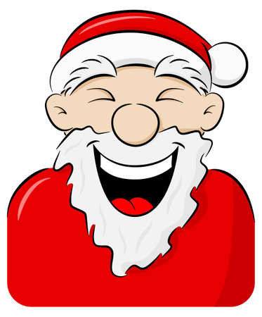 Vektor-Illustration eines Porträts eines lachenden Weihnachtsmannes