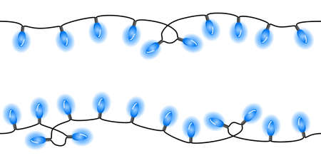 vector illustration of seamless chains of lights