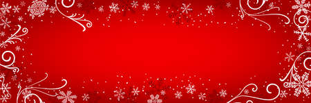 vector illustration of a decorated christmas background  イラスト・ベクター素材