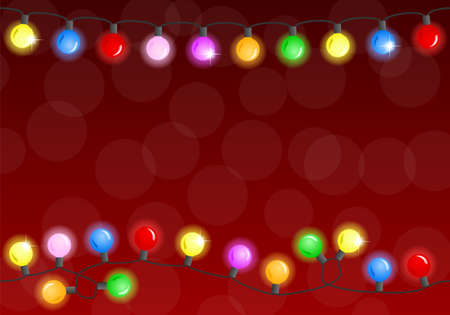 vector illustration of a chain of christmas lights Illustration