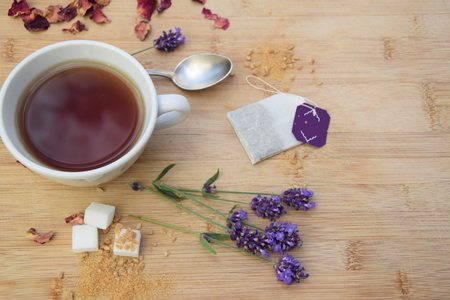 Tea set with decorations