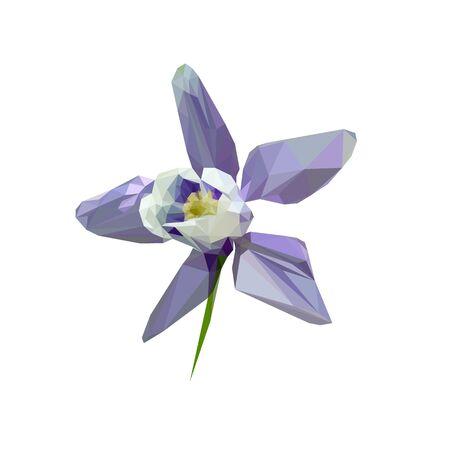 bell flower purple stylized from triangles colored Illusztráció