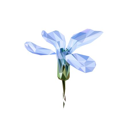 the Bud is a flower of Siberian purple proleska stylized from triangles