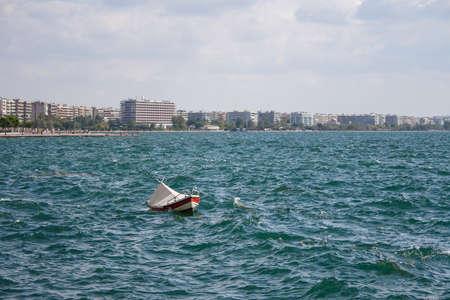 Fishing boat in the sea Stock Photo