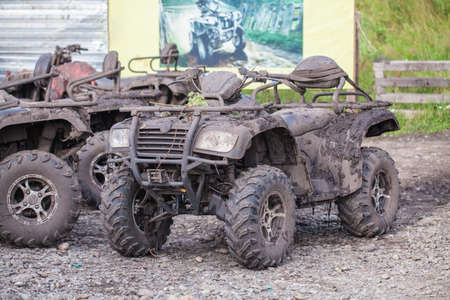 Dirty Quad bike in the nature