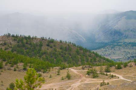 In the mountains near lake Baikal