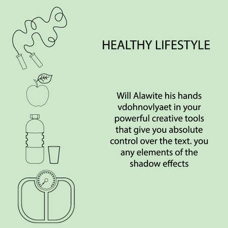 Flache Ikonen-Vektorillustration zum Thema gesunde Lebensweise für die Werbung auf der Website. Infografiken zum Thema gesunde Ernährung und einen aktiven Lebensstil für Banner