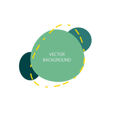 Vector graphic background in green tones. Bright and stylish screensaver with geometric shapes and space for text. Futuristic trending postcard design.