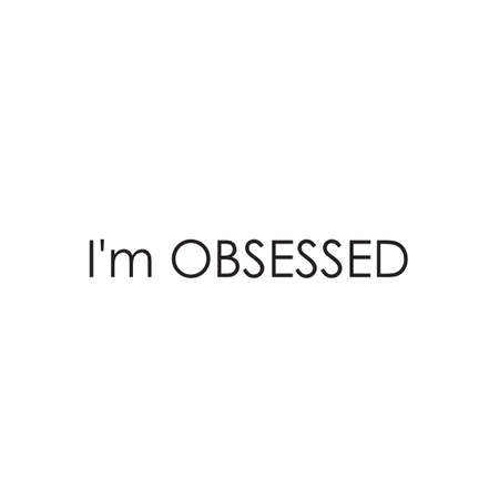 Phrase I am obsessed with on a light background. Stylish design for printing on t-shirts and things. An obsession or idea to succeed.