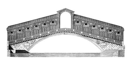 리알토 다리, 베니스의 19 세기 조각