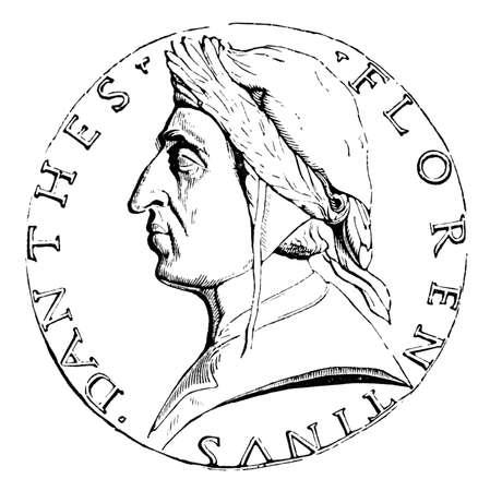 19e-eeuwse gravure van een Florentijnse munt, gefotografeerd vanuit een boek met de titel 'Italian Pictures getekend met pen en potlood' gepubliceerd in Londen ca. 1870. Copyright heeft over dit kunstwerk is verstreken. Digitaal hersteld.