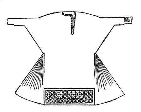albatross: Victorian engraving of an alb robe. Digitally restored image from a mid-19th century Encyclopaedia. Stock Photo