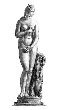 카피 톨 리누스 금성, 그리스의 빅토리아 조각. 디지털 19 세기 중반의 백과 사전에서 이미지를 복원.